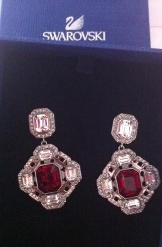 Swavorski in Amazing Red earrings