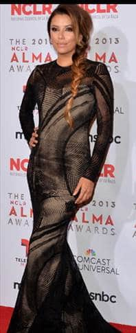 Eva Longoria at the Alma Awards wearing a Fishtail Braid