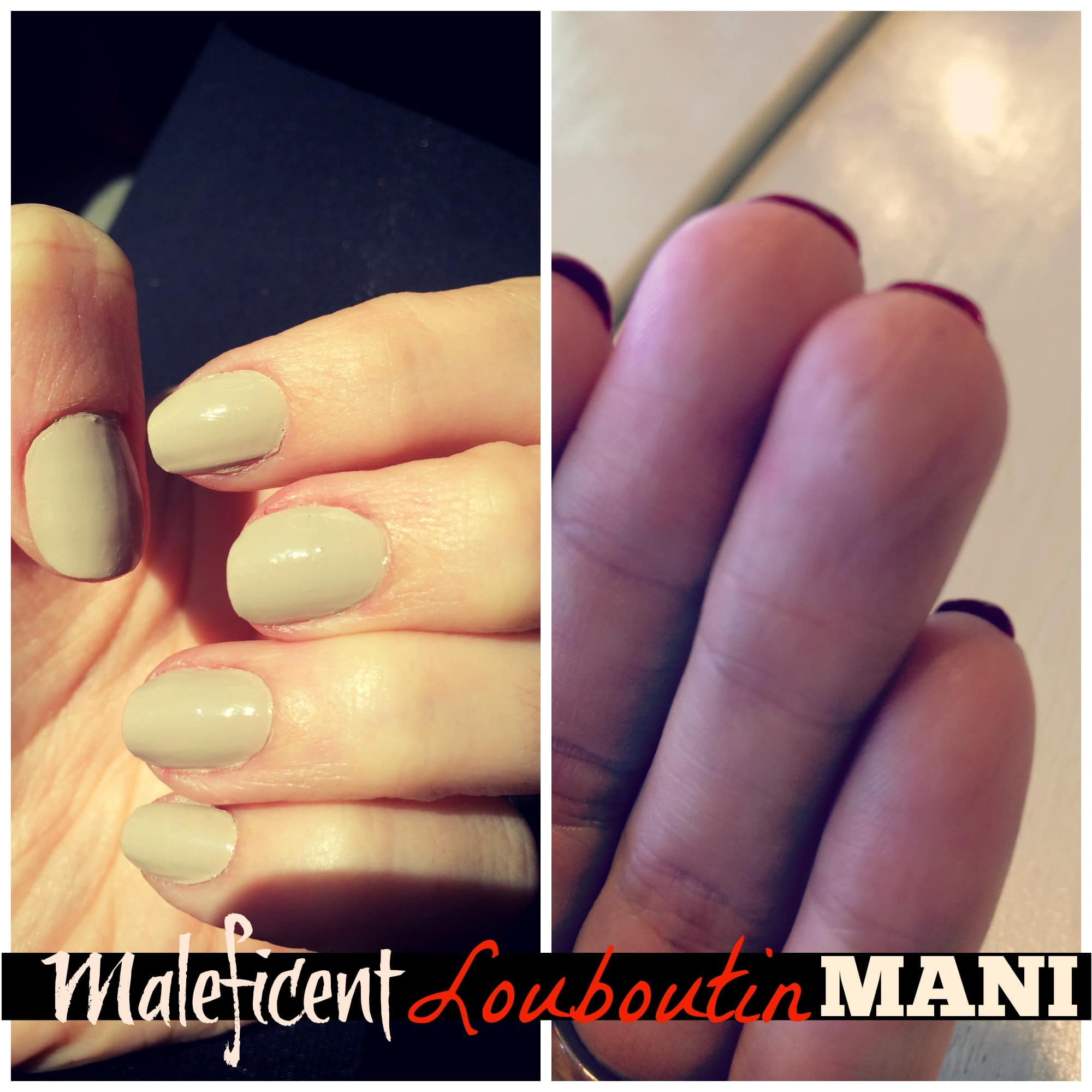 How To: Maleficent Louboutin Manicure -
