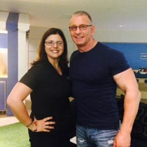 The Transitions-wearing duo! Cristy meets Celebrity Chef & Spokesperson Robert Irvine.