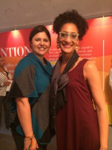 Cristy reunites with awesome Chef Carla Hall at the 'O' Town 'Orgullosa' P&G Tent