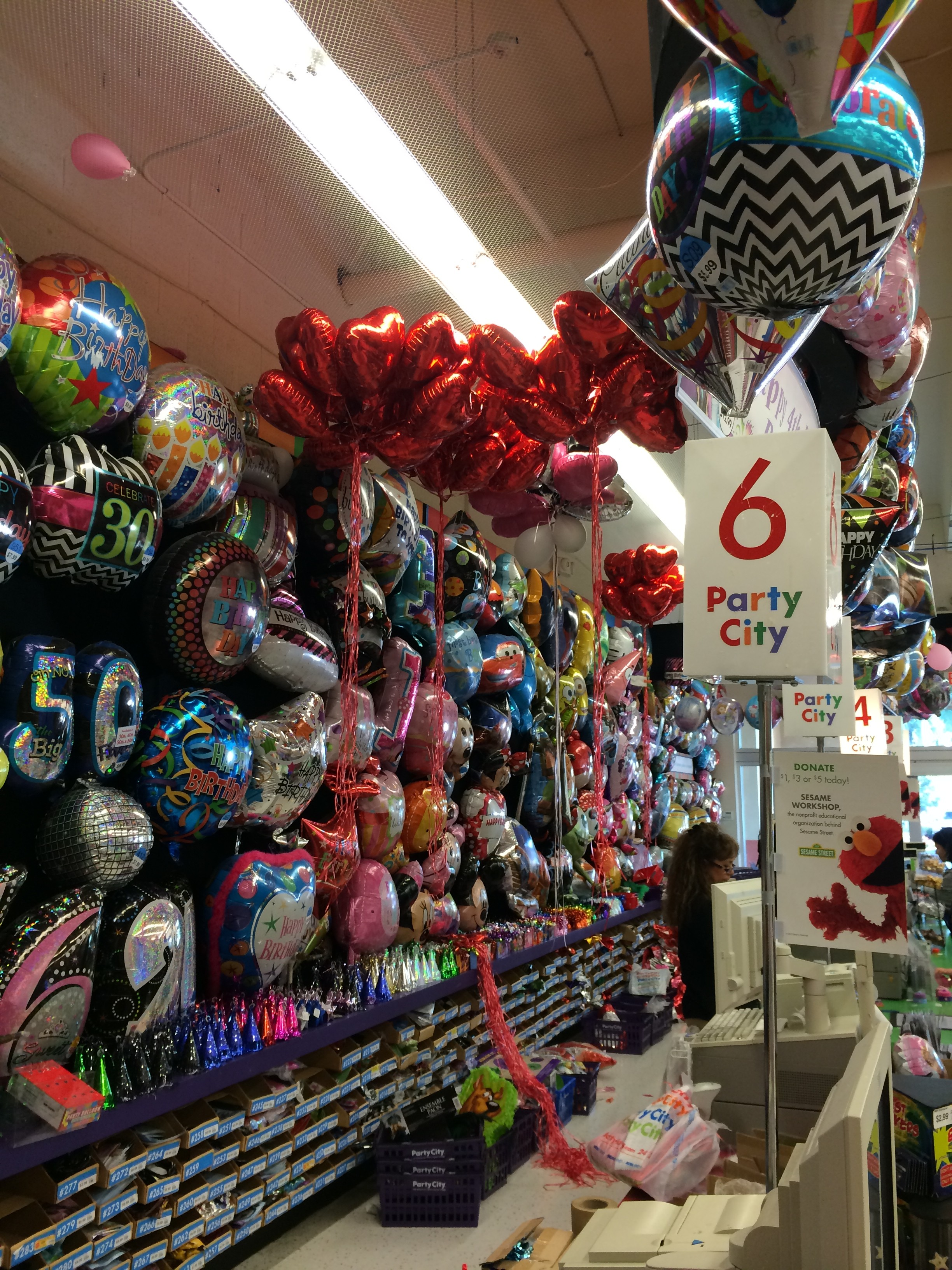 Balloons help set your party mood!