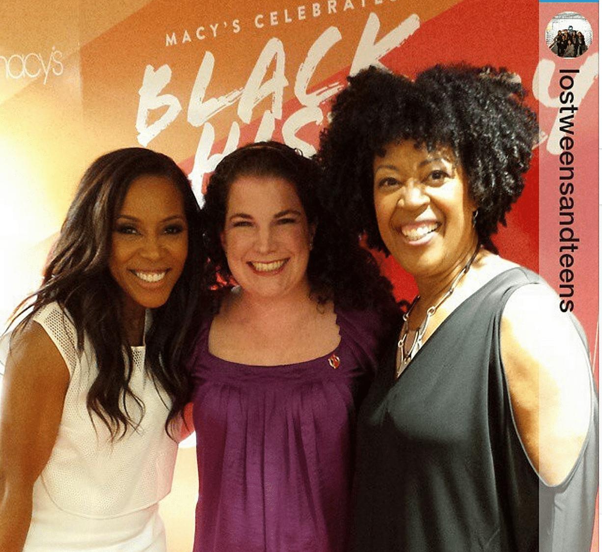 Our mom influencer Amanda Daufu with famed stylists June Ambrose & Johnetta Boone celebrating #BlackHistoryMonth and the evolution of #fashion at Macys.