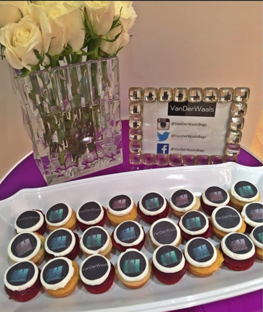 custom cupcake for VanDerWaals Bags