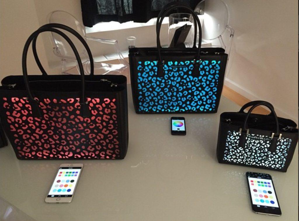 VanDerWaals bags lighted in different colors