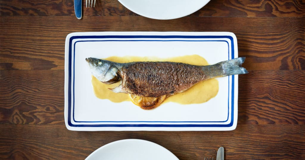 Maille Spring Summer Collection Recipe- Whole Roasted Mustard Branzino