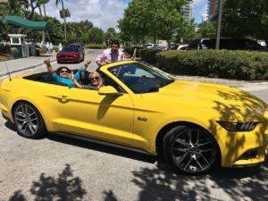 Mustang driving