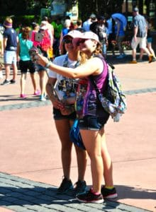Tweens and Teens LOVE their selfies and Disney Parks are a great background!