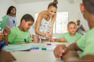 Dominican bachata singer, Leslie Grace, visited this past summer the DREAM Project's school in Cabarete, Dominican Republic