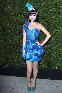 Selena Gomez in Perez Hilton's Blue Ball BIrthday party.