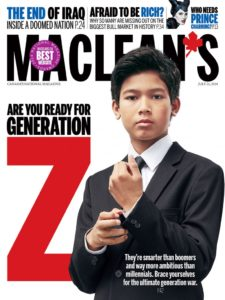 """July 2014 cover of Canadian magazine """"Maclean's"""""""