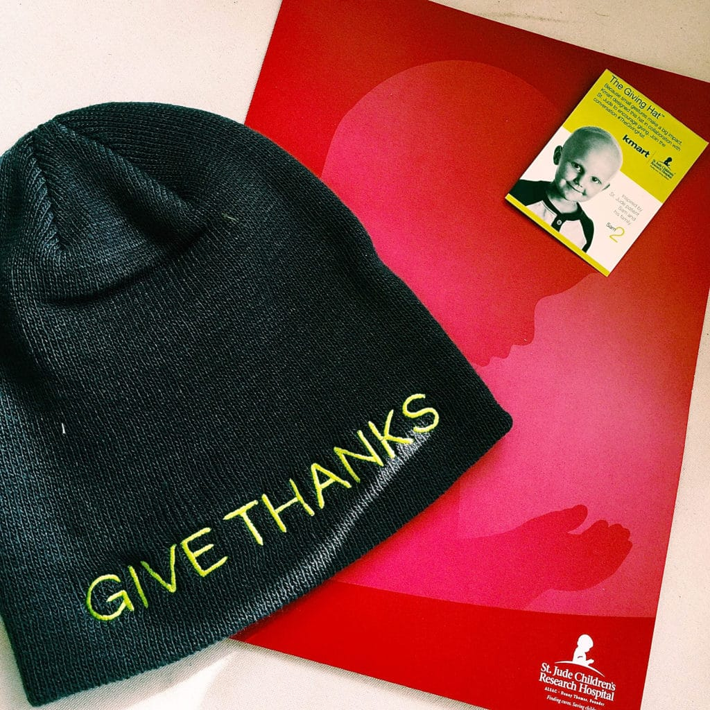 We love the St. Jude 'Give Thanks' hat as a gift for anyone- especially tweens & teens
