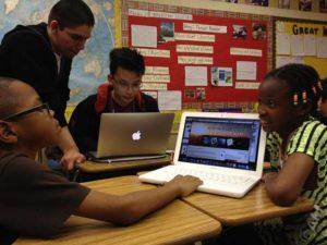 "Teens at one of TXT ""Kids Hackerthons"""