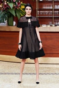 Kendall Jenner in Chanel Fall-Winter 2015. www.fashiongonerogue.com
