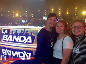 "My twin teen girls and I spent fun quality time at one of the live shows of Univision's ""La Banda."""