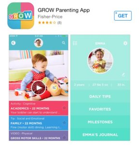 "The ""Grow Parenting"" mobile app is available now for free in the App Store."