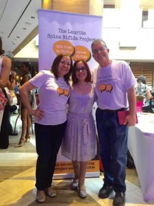 My parents and I in the launch of my non-profit, The Laurita Spina Bifida Project, at Hispanicize, April 2016.