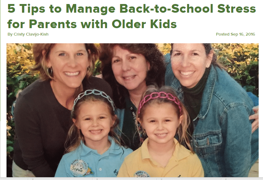 5 Tips to Manage Back-to-School Stress for Parents with Older Kids by Cristy Clavijo-Kish