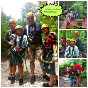 #FamiliaTravel Ziplines in North Carolina