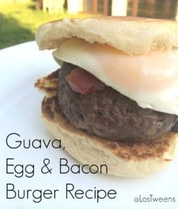 guava egg and bacon burger
