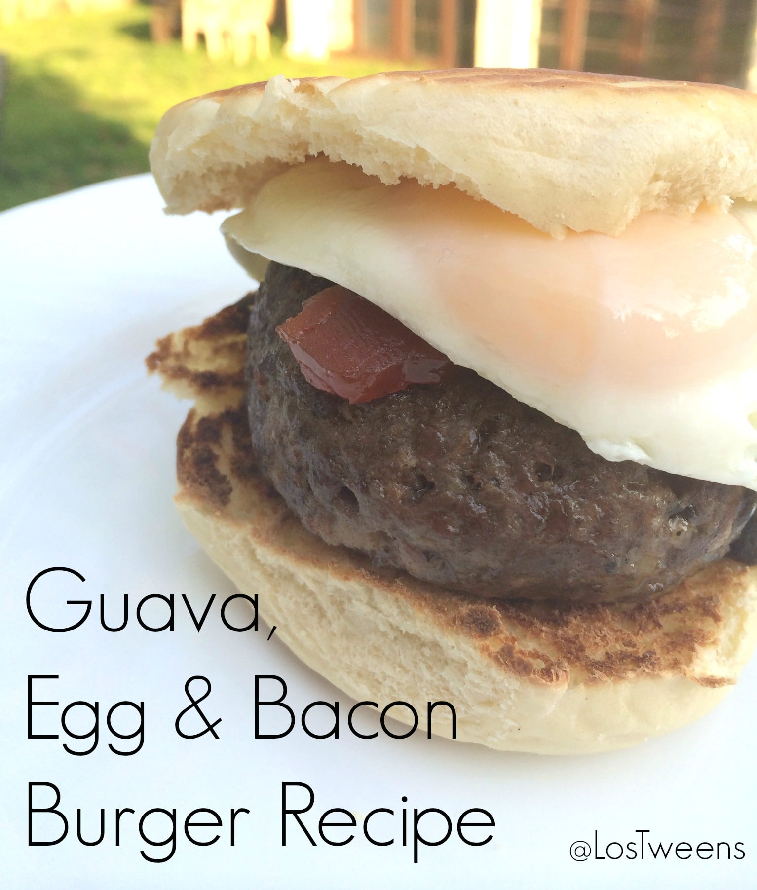 guava egg and bacon burger recipe