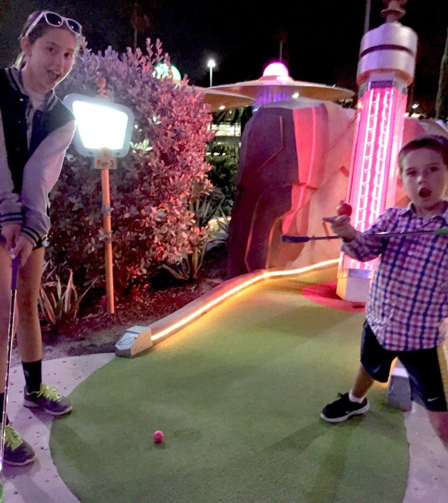 Kids Playing Mini-Golf at Universal CityWalk