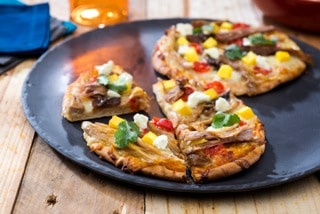 Pork Pita Pizza by Doreen Colondres for PorkTeInspira.com