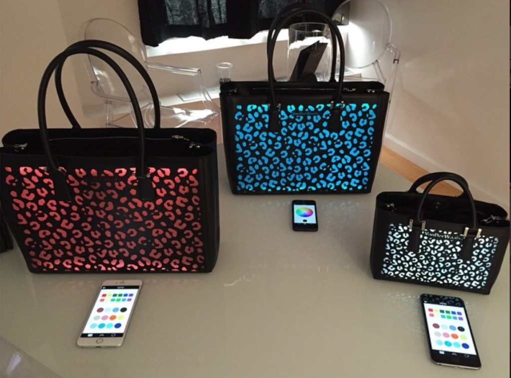 VanDerWaals bags lighted in different colors