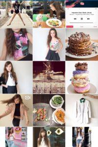 A snapshot of Callie's Instagram feed @CallieReiff123