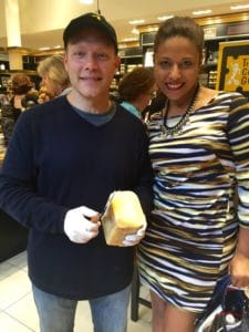 """The Cheese Guy"" and I in  last week's event @ Maille NYC"