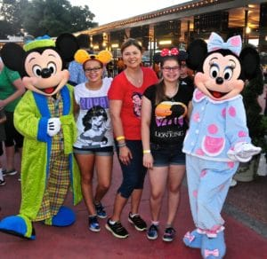 Mickey & Minnie were still in their PJs when we saw them at 6 AM to kick off the Coolest Summer Ever 2015!