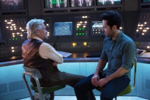 "Michael Douglas as ""Hank"" and Paul Rudd as ""Ant-Man"""