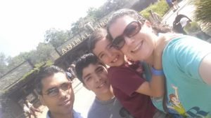 My kids and I in Animal Kingdom