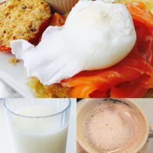 Un desayuno saludable que incluya leche puede venir en diferentes maneras.