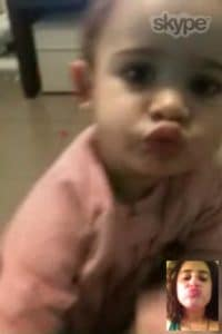 """Tech Besos"" with Miranda via Skype."