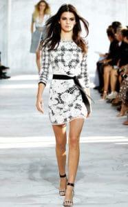 Kendall Jenner, DVF, Gingham Style Fashion Week 2015. Photo credit: www.eonline.com