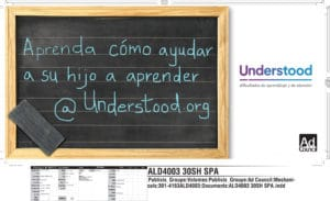 Anuncio de Understood.org que aparece en diferentes publicaciones de Estados Unidos.