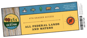 To participate in the Every Kid in a Park program, fourth graders nationwide can visit www.everykidinapark.gov and download a free pass.