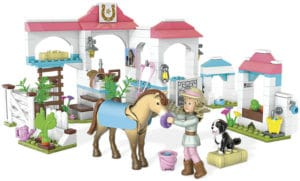 """A lucky winner will get a set of """"Nicki's Horse Stables"""" from the American Girl Mega Blocks collection"""