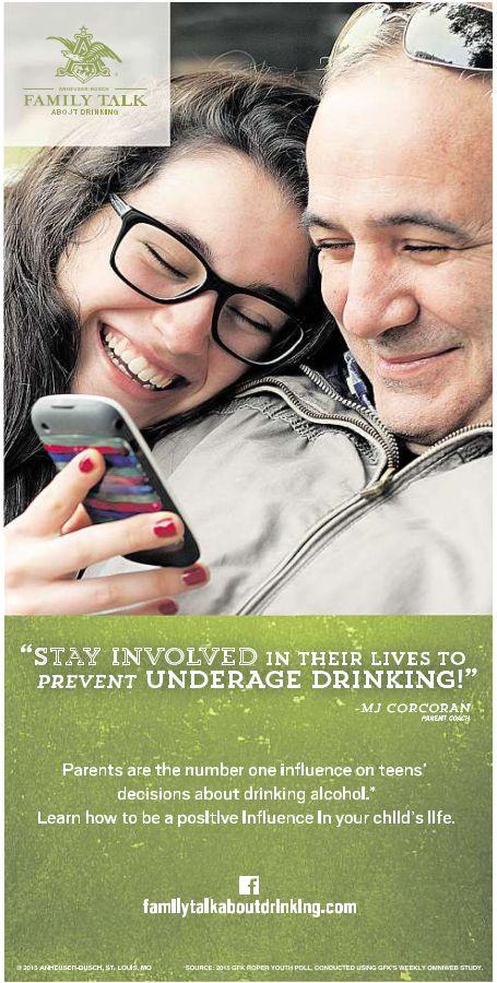 """Padres pueden encontrar mas tips sobre como hablarle a tus hijos sobre alcohol en el Facebook page de Anheuser-Busch """"Family Talk"""" y en FamilyTalkAboutDrinking.com"""