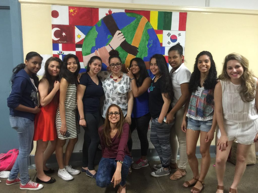 Young Latinas of the L.O.V.E Mentoring Program in NYC.