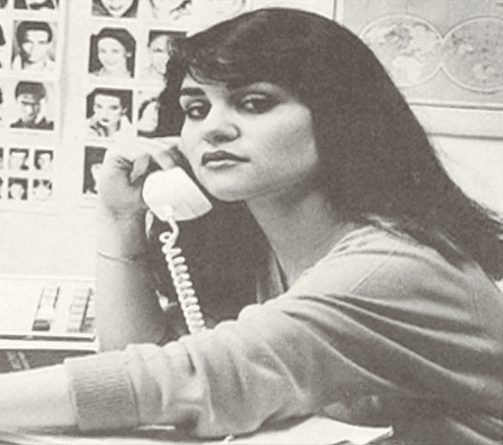 A teen Nely Galan at 17.